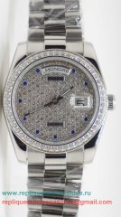 Rolex Day Date Automatique S/S 36MM Diamonds Sapphire RXM383