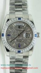 Rolex Day Date Automatique S/S 36MM Diamonds Sapphire RXM242