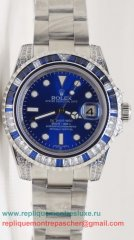 Rolex Submariner Automatique S/S Diamonds Bezel Sapphire RXM417